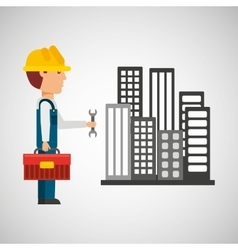 industry construction icon vector image