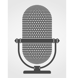 Microphone Silhouette vector image