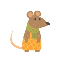 Muse in checkered pants and scarf forest animal vector
