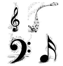 Musical designs set vector