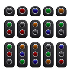 remote control panels set with one two and three vector image