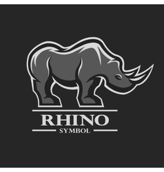 Rhino symbol logo and other design vector