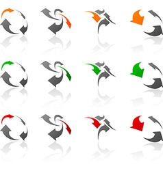 Set of Company symbols vector image