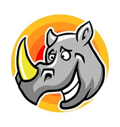 Smiley Rhinoceros vector image vector image