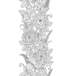 Tea rose pattern vector