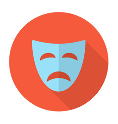 Tragedy mask flat icon vector