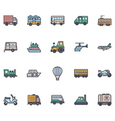 Transport Icons 1 vector image