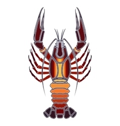 Bright crawfish zodiac cancer sign vector