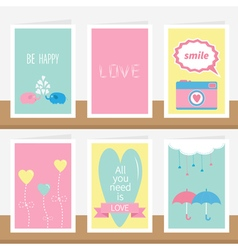 All you need is love quote text elephant family vector