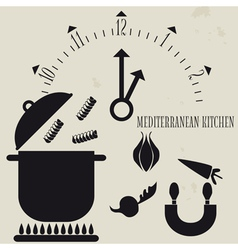 Mediterranean Cuisine vector image