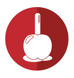 Candy apple with stick shadow vector