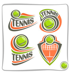 Logo lawn tennis ball vector