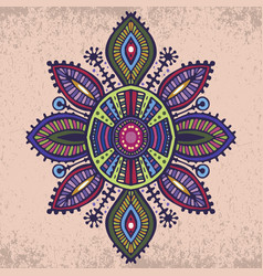 Tribal art boho hand drawn geometric pattern vector