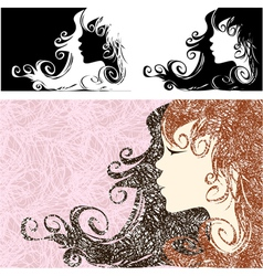 Abstract girl vector