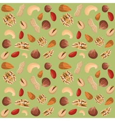 Nut mix seamless pattern vector