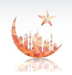 Ramadan greeting card design element vector