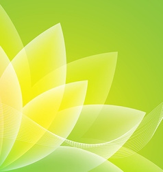 Abstract green flower background vector