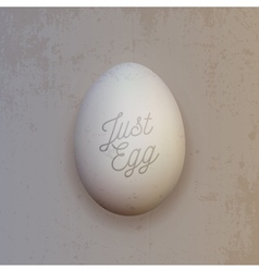 Realistic white chicken egg vector