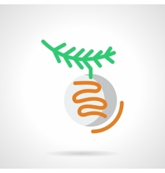 Xmas ball with branch simple line icon vector