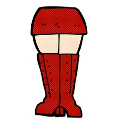 Comic cartoon legs vector