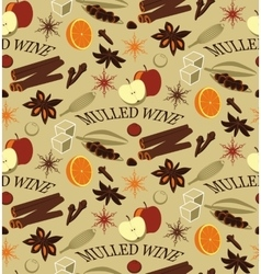 Ingredients for mulled wine vector