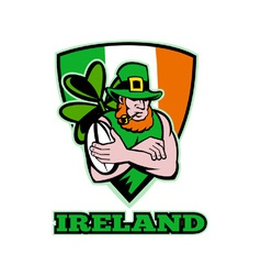 Ireland rugby background vector