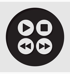 Information icon - music control buttons vector