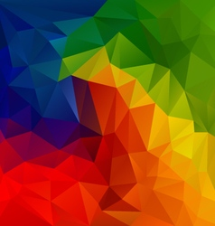 Spectrum color full rainbow polygon triangular vector