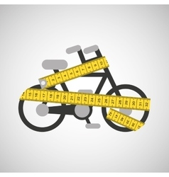 Bicycle and tape measure vector