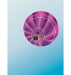 Air balloon bottom view vector