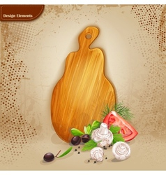 Background for your text with a wooden board and vector image