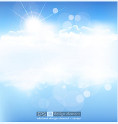 background with blue sky vector image