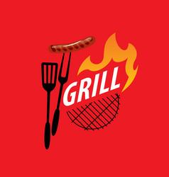barbecue party logo vector image