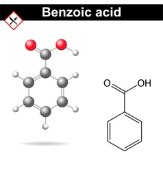 Benzoic acid vector image