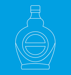 Bottle icon outline style vector