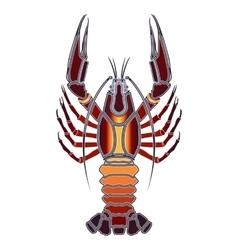 Bright crawfish zodiac cancer sign vector