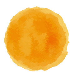 Bright orange watercolor painted stain vector