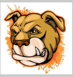 Bulldog mascot cartoon head vector