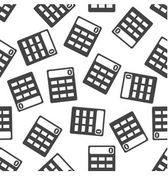 Calculator seamless pattern background icon flat vector