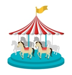 Circus carnival celebration cartoon design vector image vector image