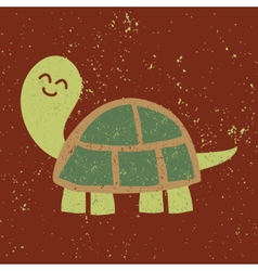 Cute turtle character Sponge Art Effect vector image vector image