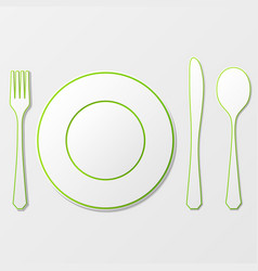 Cutlery shadow silhouettes vector
