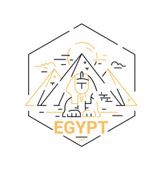 Egypt - modern line travel vector