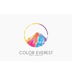 Everest logo Color everest Mountain logo Color vector image