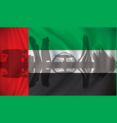 flag of united arab emirates with abu dhabi vector image vector image