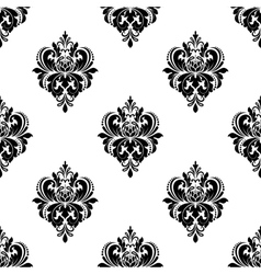 Floral seamless arabesque pattern with damask vector image