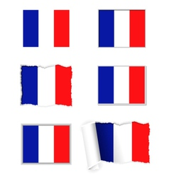 France flag set vector