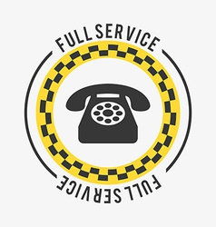 full service vector image
