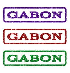 gabon watermark stamp vector image