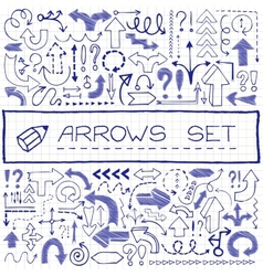 Hand drawn arrow icons with question and vector image vector image